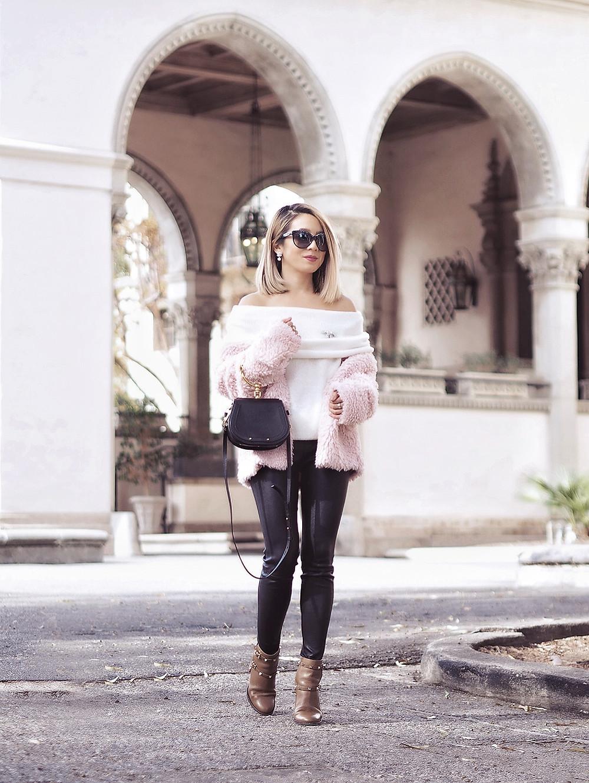 SheIn Faux Fur Jacket | Lam in Louboutins