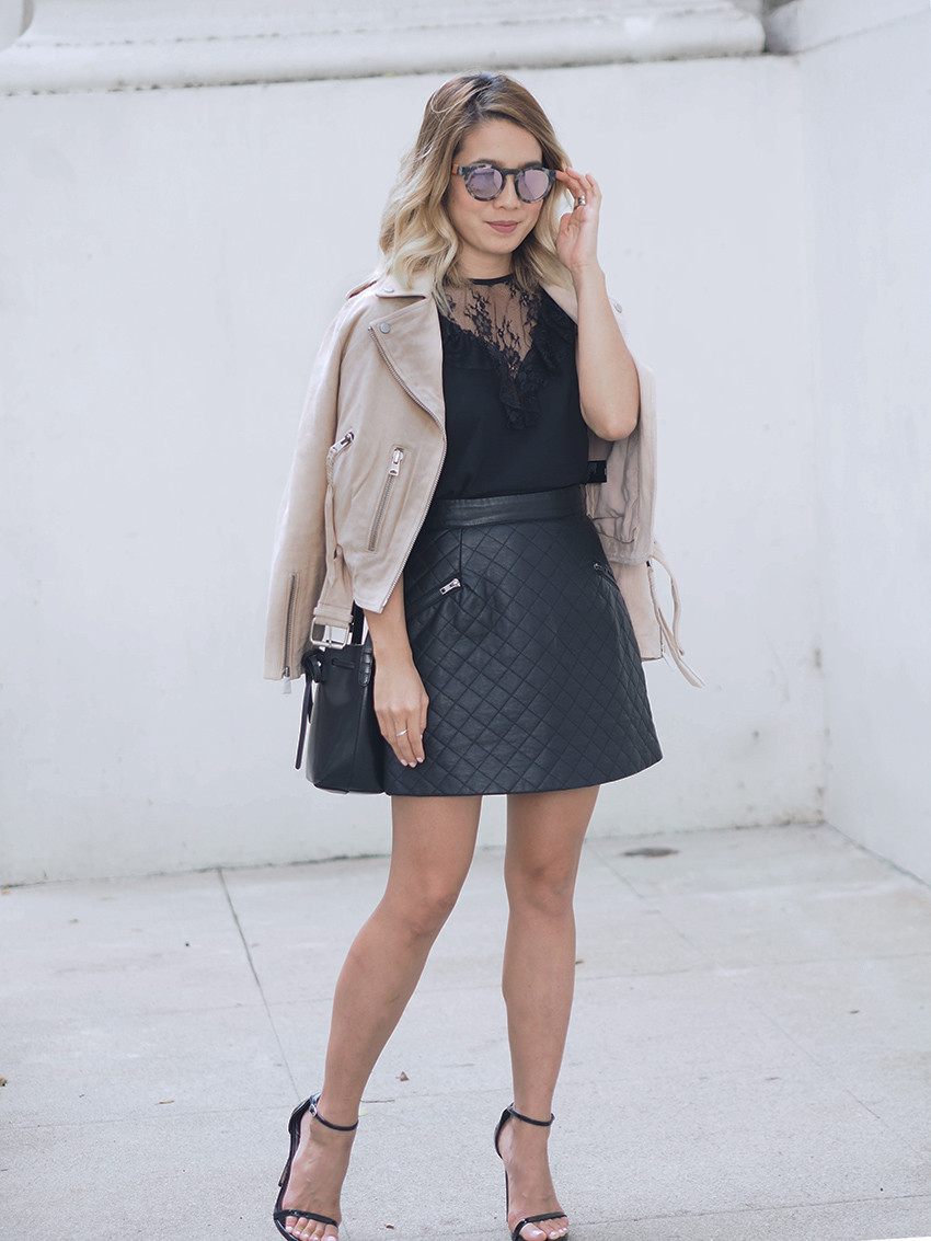 Lace and Leather Outfit