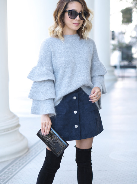 Endless Rose Ruffled Sleeve Sweater