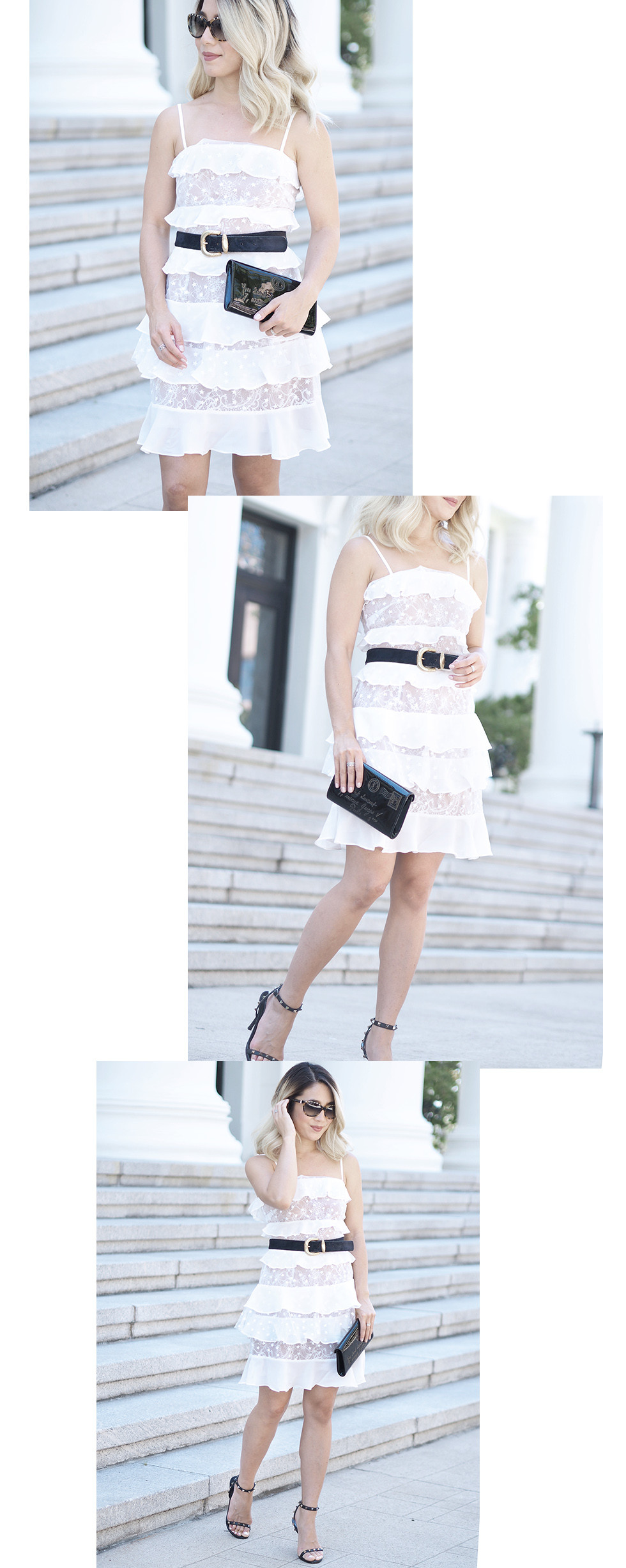 Cosmic Tiered Lace Dress | Lam in Louboutins