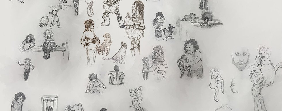 Sketchbook Page/ Characters