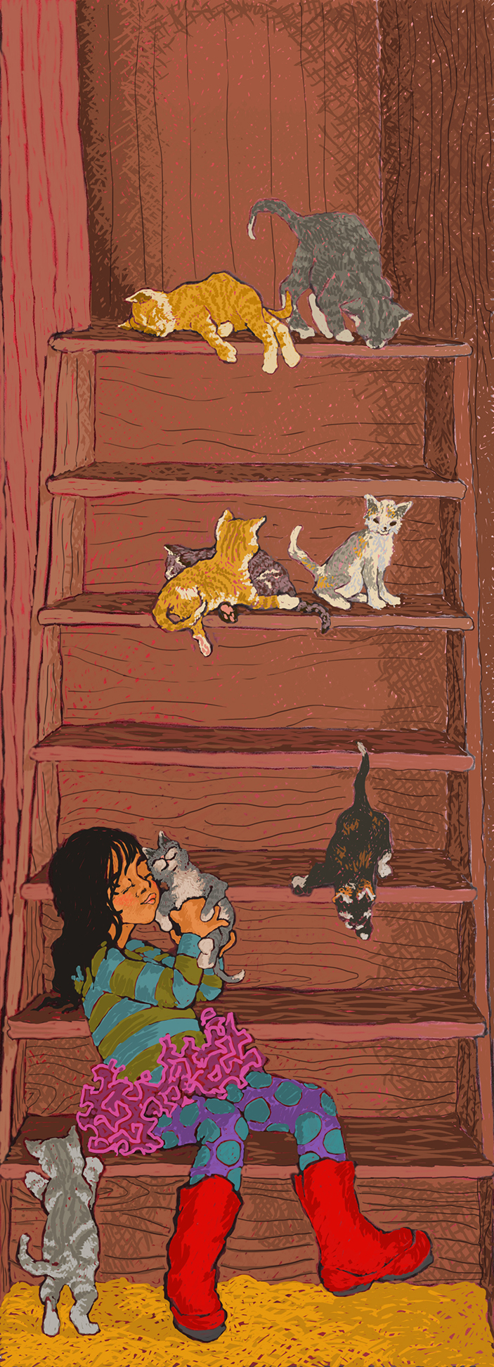Eight Kittens, Seven Steps