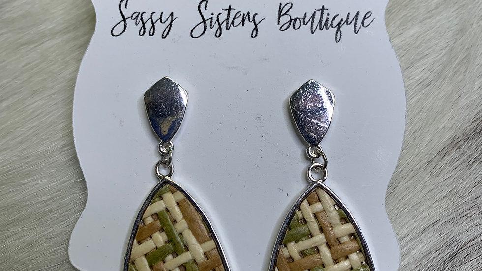 Ashlyn Rose Wood Lattice Earrings