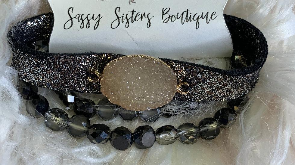 Charcoal Sparkle Bracelet Set