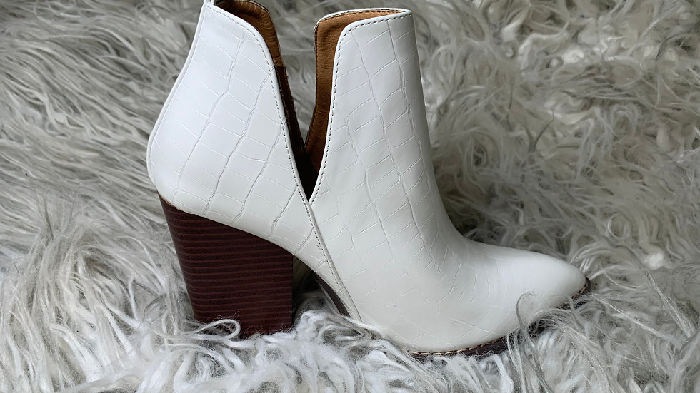 White Alligator Booties