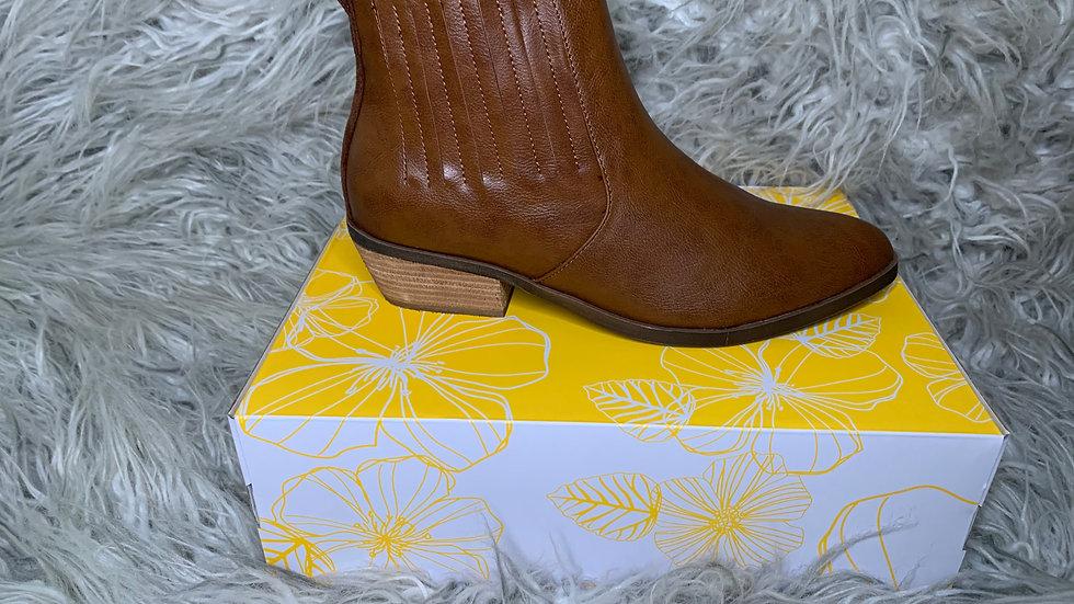 Brown YellowBox Booties