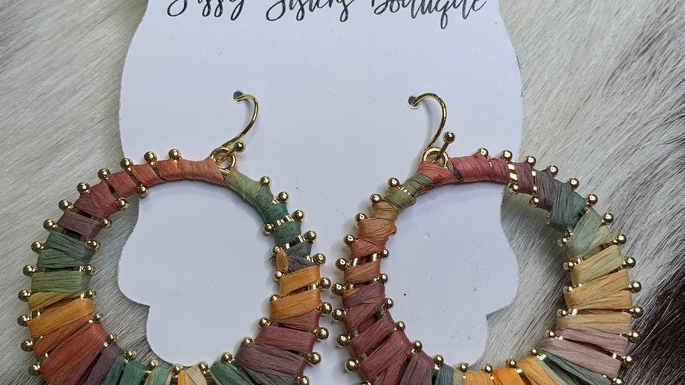 Woven Multicolored Earrings