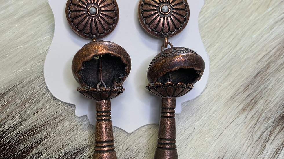 Cheekys Mushroom Tassel Earrings