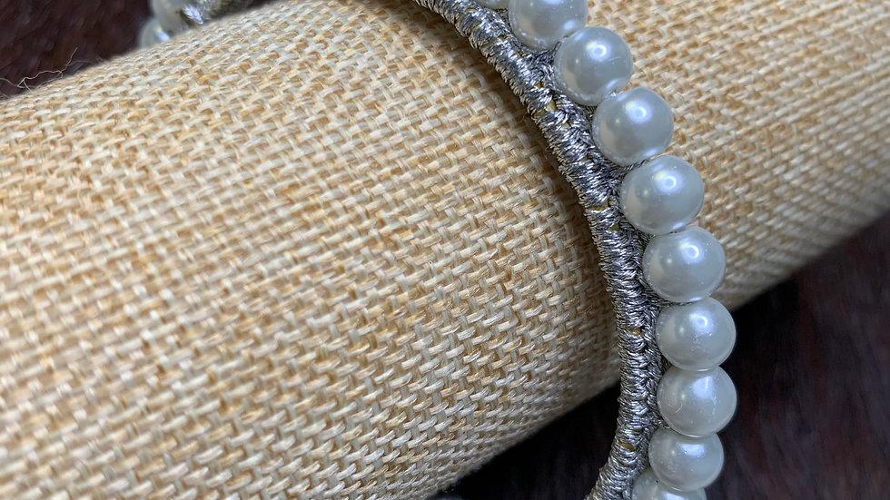 Small White Pearl Cuff