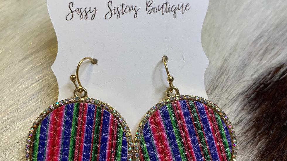 Round Serape Earrings