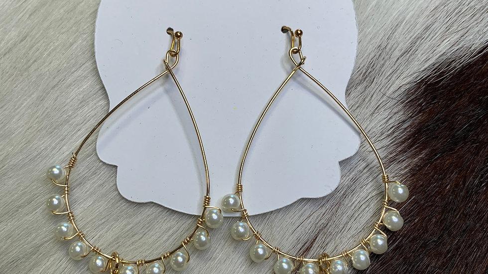 Golden Pear Teardrop Earrings