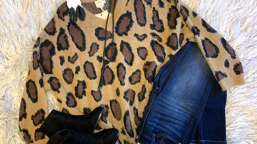 Wonderfully Winter Leopard Sweater