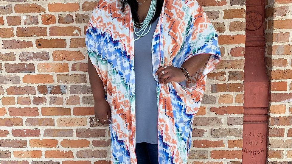Tie Dye Kimono-Plus