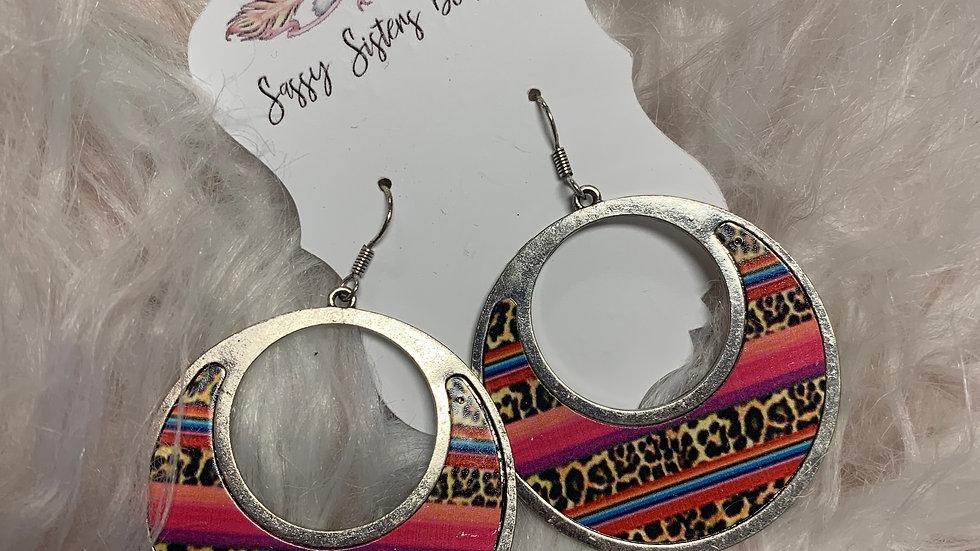Leopard and Serape Earrings