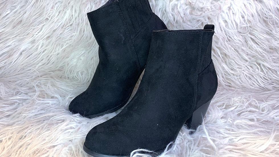 Black Felt Booties