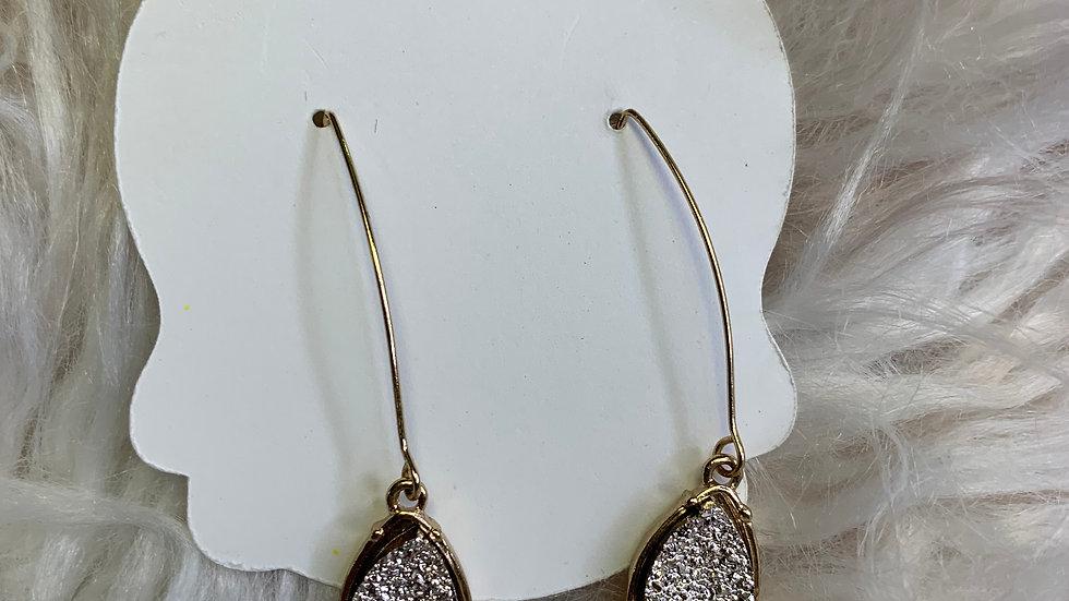 Druzy Dangle Teardrop Earrings