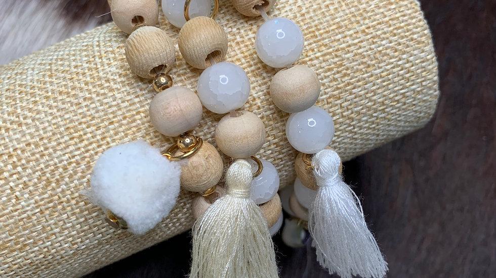 Wildflower Wooden Bead Bracelet