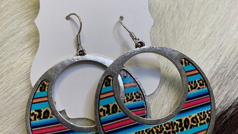 Cheekys Blue Serape Earrings