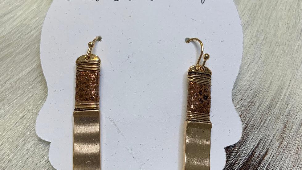 Depressor Bronze Earrings