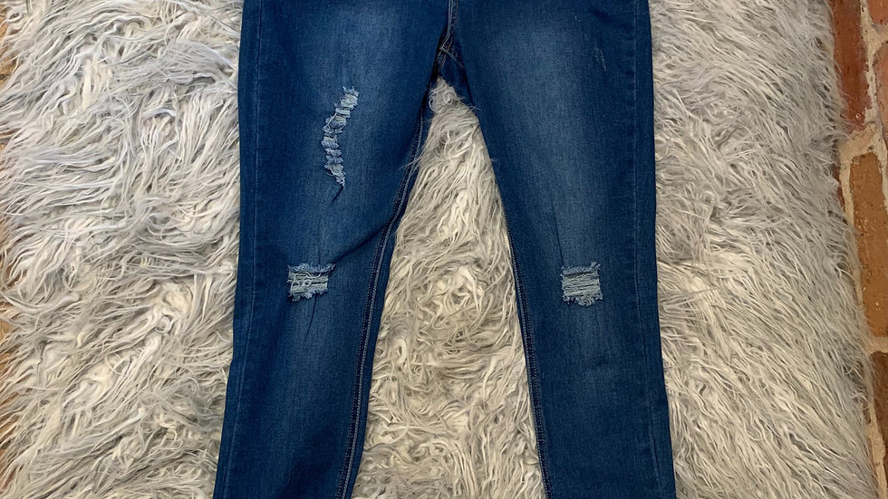 H & Q distressed jeans