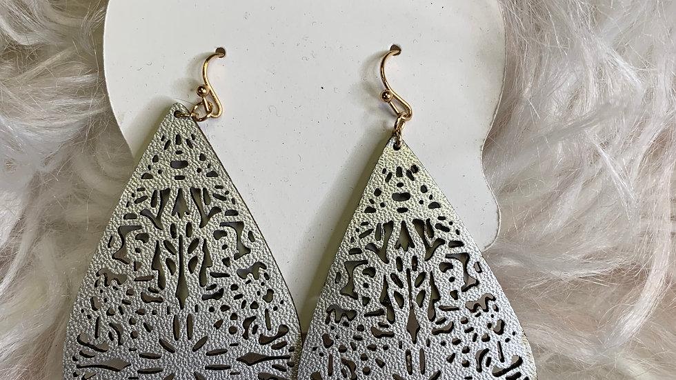 Silver Ornate Earrings