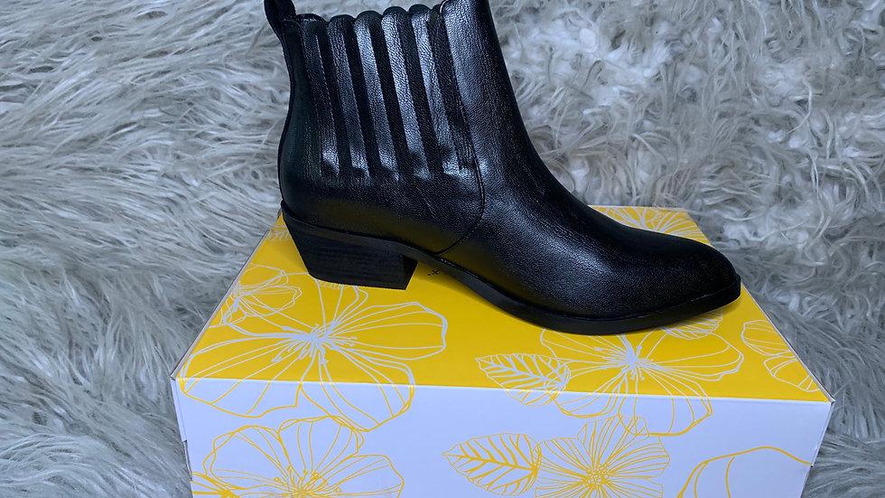Black YellowBox Booties