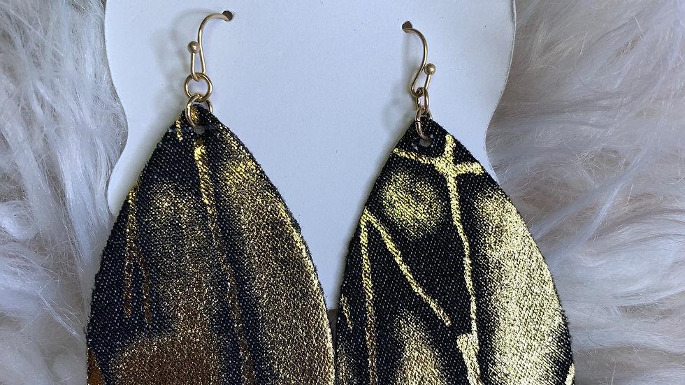 Teardrop Snake Earrings