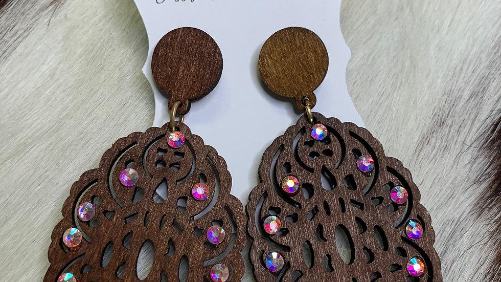 Cheekys Dark Wood Earrings