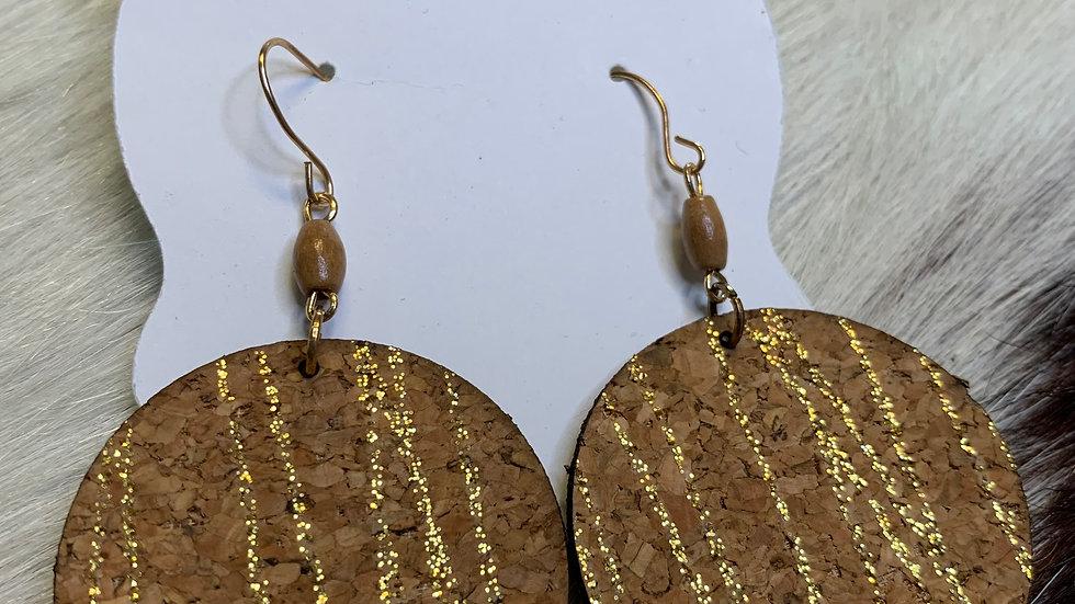 Round Cork Earrings