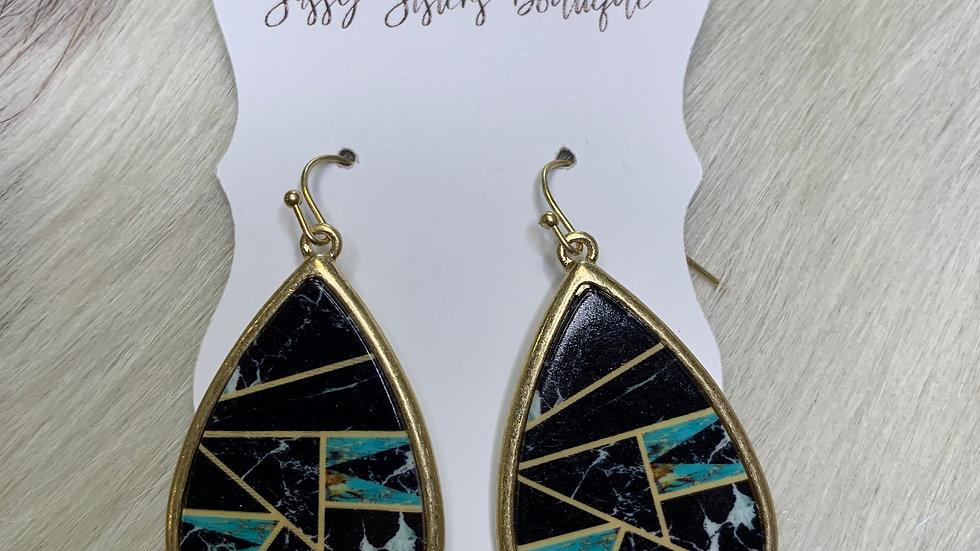 Black Retro Earrings