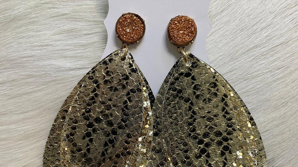 Snake Teardrop Earrings