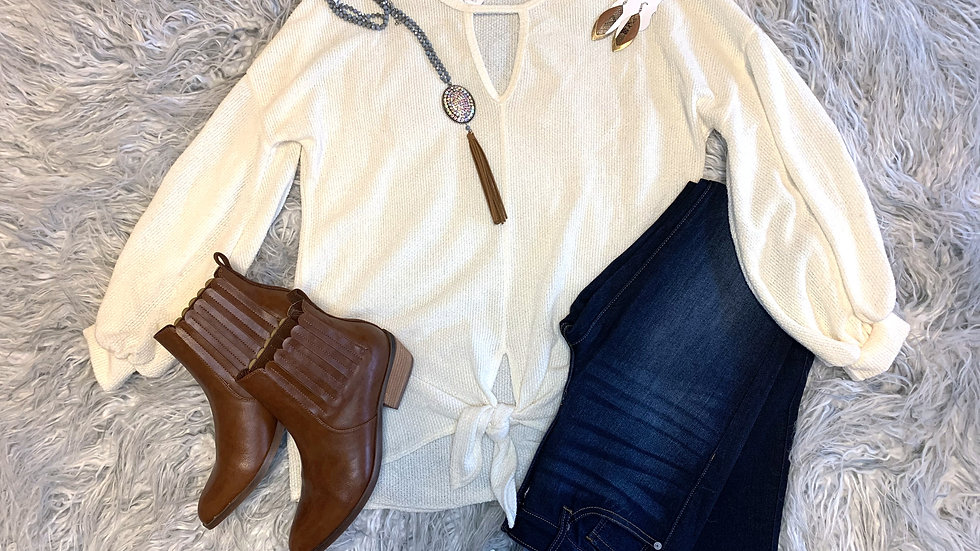 Carole's Knot Cream Top