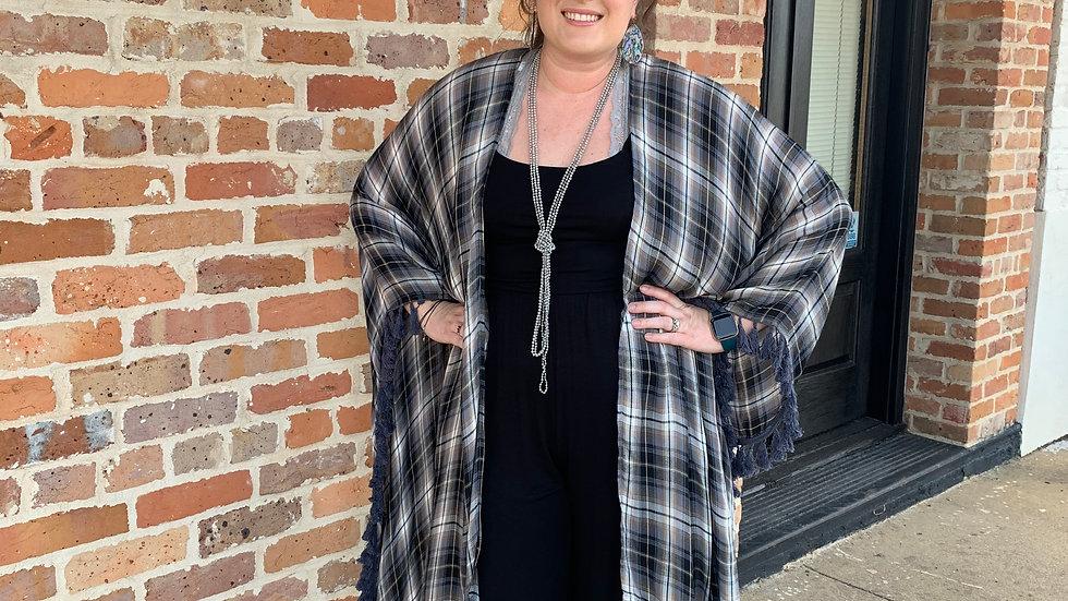 Plaid Kimono