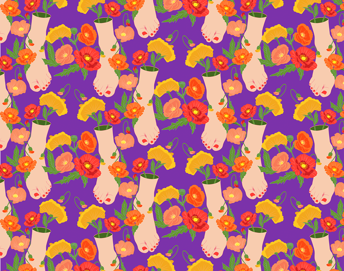 poppy feet pattern