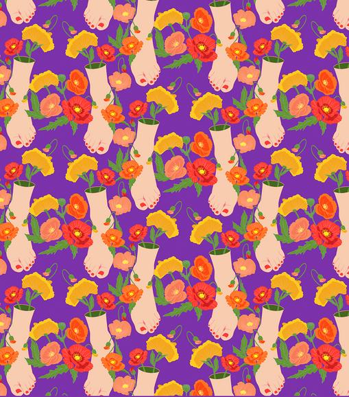 poppy feet pattern