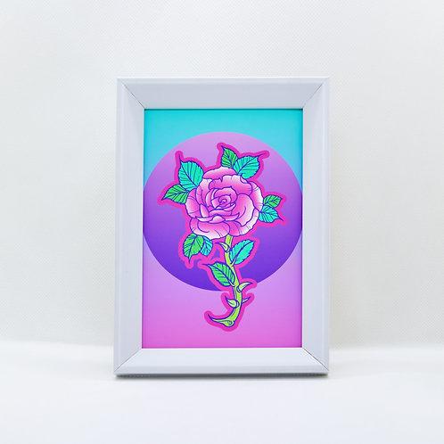 rosa rosa- framed mini print
