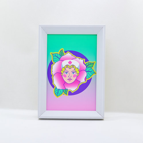 rose of acidland -framed mini print