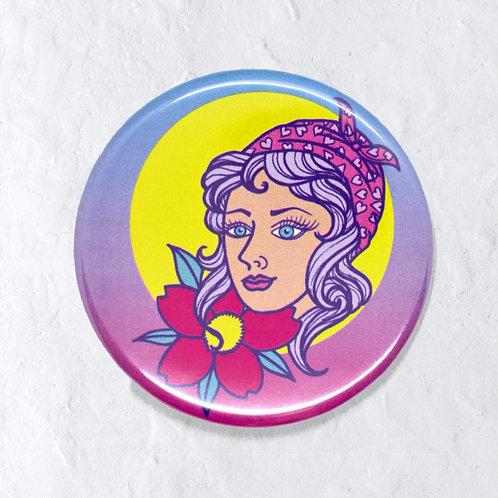 bandana girl -pin