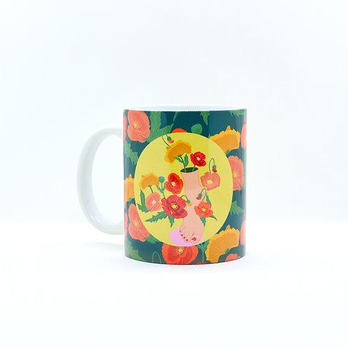 poppy feet -mug 11oz