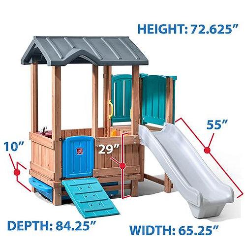 Woodland Adventure Playhouse &Slide
