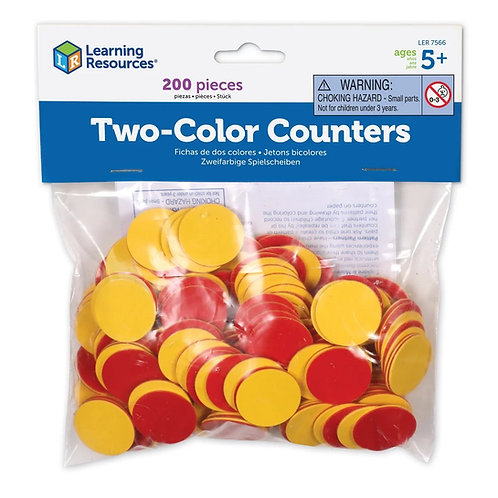 RED  YELLOW COUNTERS, SET OF 200