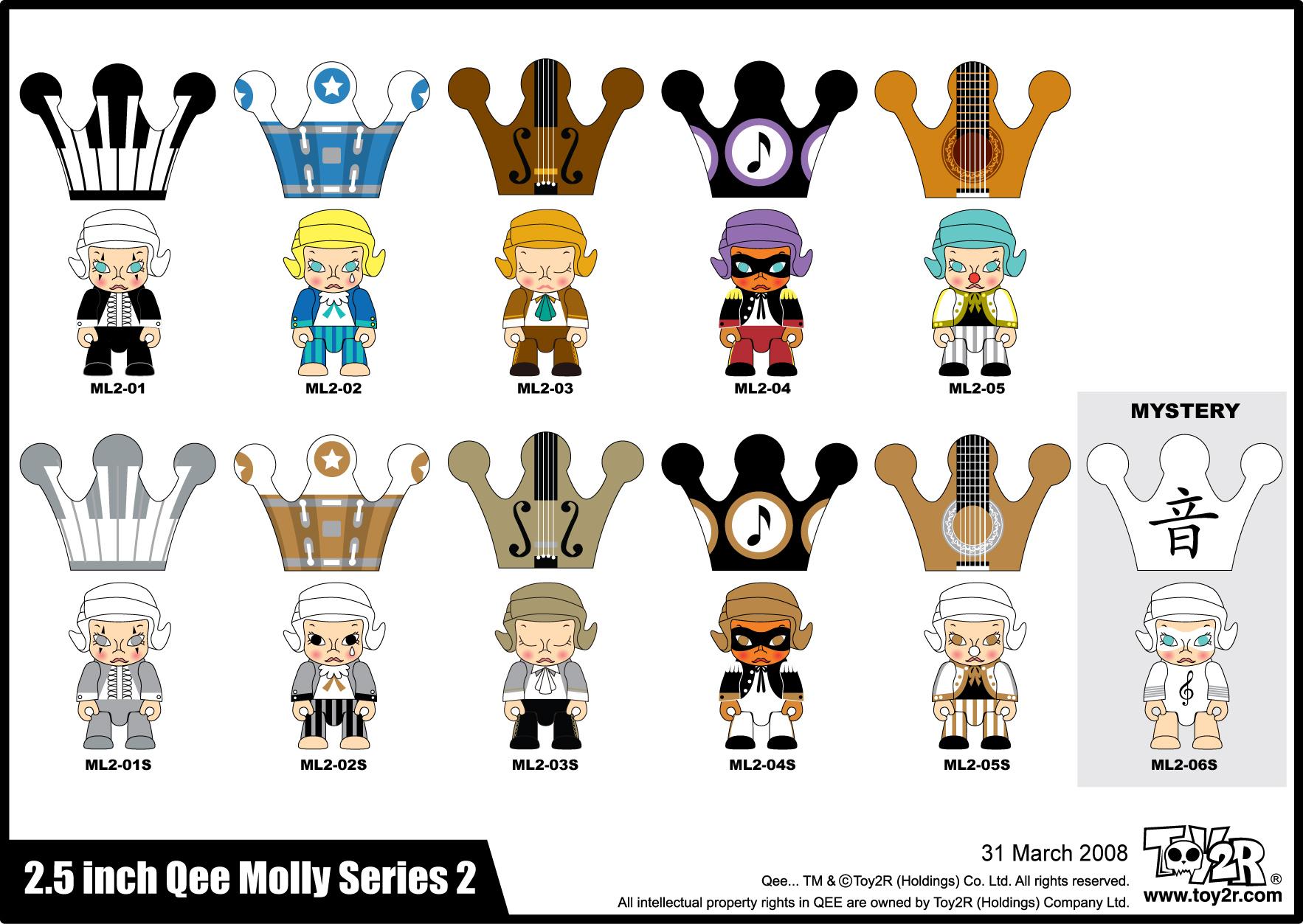 Mollyqee Series 2 list