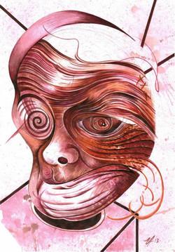 1, para libro de artista, 2013, tinta sobre papel.