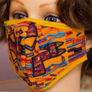 Abstract Handmade Mask