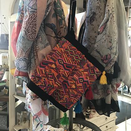 Abstract Satchel Bag