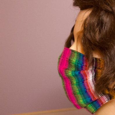Striped Handmade Mask