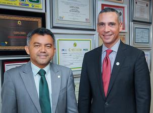 S.E. Alejandro Arias Embajador Dominicano en Brasil se reúne con el diputado Cleber Verde para Trata