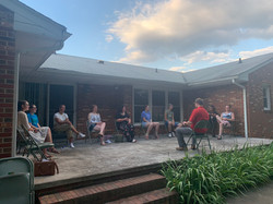 MERGE on the porch