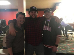 MERGE (guys at the bowling alley)