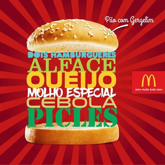 Foto ilustrativa de uma campanha publicitária do Big Mac do Mc Donalds